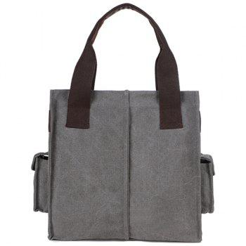 Side Pocket Large Canvas Tote