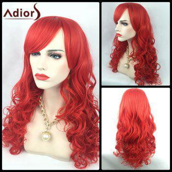 Adiors Oblique Bang Long Wavy Synthetic Party Wig