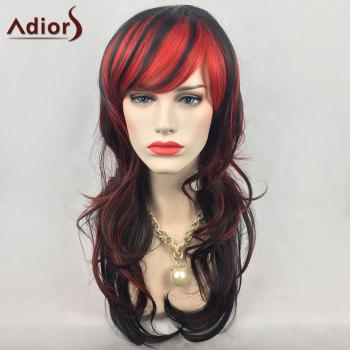 Adiors Long Layered Double Color Side Bang Wavy Synthetic Party Wig