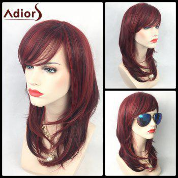 Adiors Colormix Long Layered Side Bang Slightly Curled Synthetic Party Wig