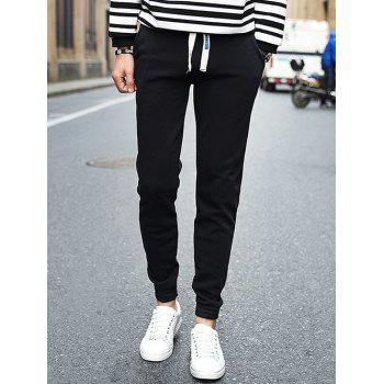 Slimming Drawstring Waist Pocket Jogger Pants