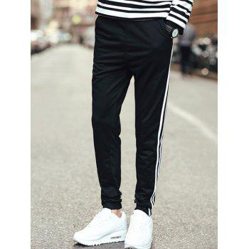 Slim Fit Striped Drawstring Waist Jogger Pants