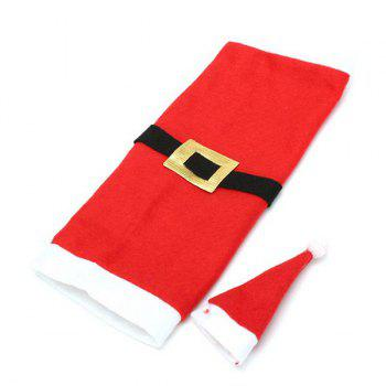 Christmas Decor Santa Clothes Wine Bottle Cover Bag -  RED/WHITE