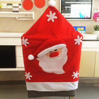 Christmas Table Decor Santa Pattern Chair Back Cover