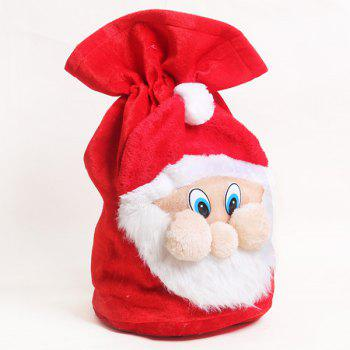 Christmas Santa Claus Plush Gift Bag - RED