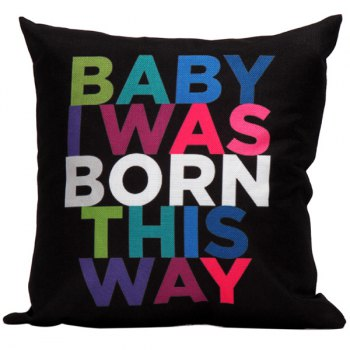 Baby Born Letter Printed Cushion Pillow Cover