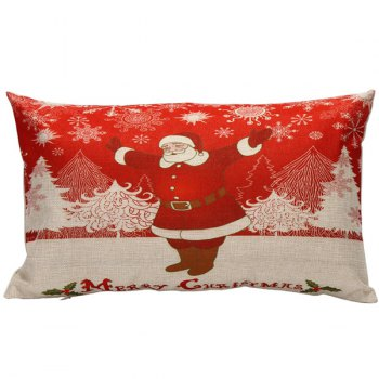 Christmas Home Decor Xmas Santa Rectangle Pillow Cover