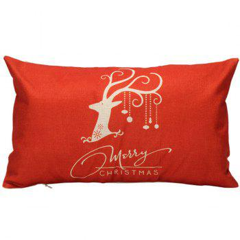 30*50CM Christmas Elk Pattern Cushion Throw Pillow Cover