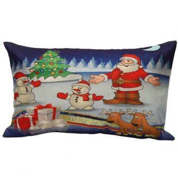 Merry Christmas Bed Throw Cushion Rectangle Pillow Cover
