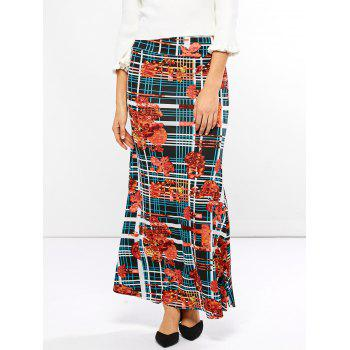 Mid Waist Striped Print Skirt