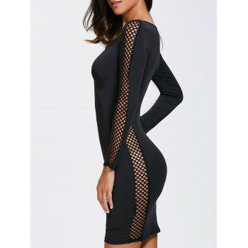 Long Sleeve Club Dress With Criss Cross