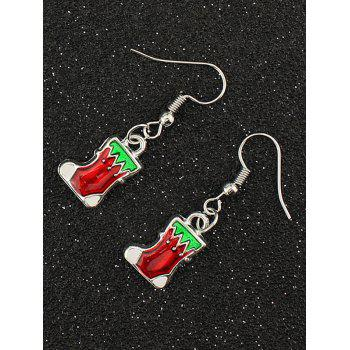 Christmas Boots Drop Earrings