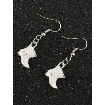 Rhinestone Christmas Moon Boots Earrings
