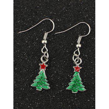 Christmas Tree Pentagram Earrings