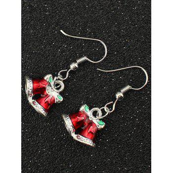 Christmas Bells Bowknot Drop Earrings