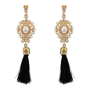 Artificial Pearl Tassel Earrings