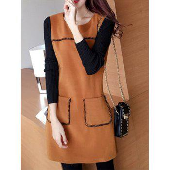 Contrast Sleeve Pocket Dress