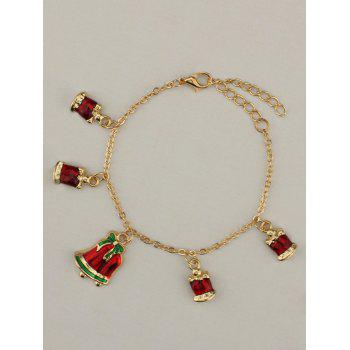 Gold Plated Christmas Bows Bells Charm Bracelet