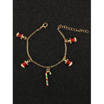 Christmas Bells Candy Cane Charm Bracelet