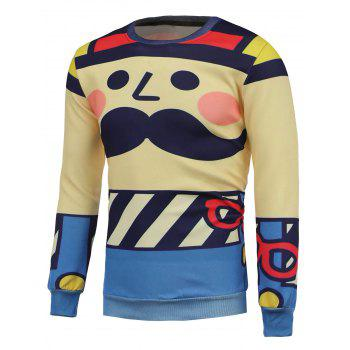 Crew Neck Cartoon Printed Sweatshrit