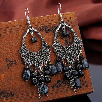 Teardrop Beads Tassel Earrings