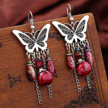 Vintage Butterfly Beads Drop Earrings