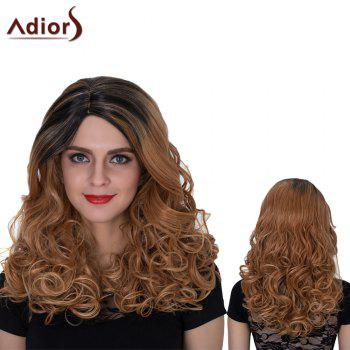 Adiors Long Color Mixed Side Parting Shaggy Wavy Synthetic Wig