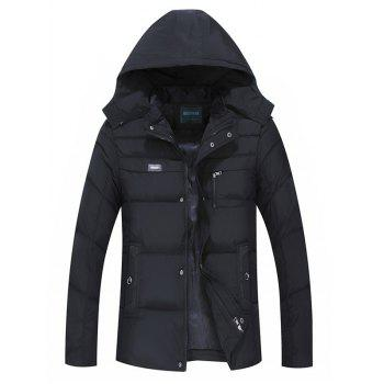 Full Zip Quilted Hooded Coat