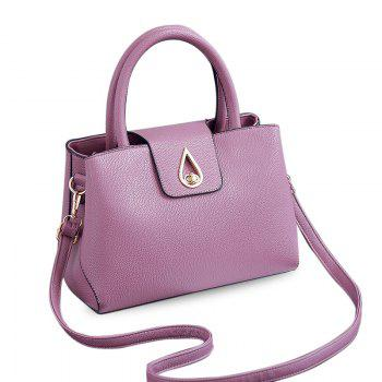 Metal Hasp Textured PU Tote