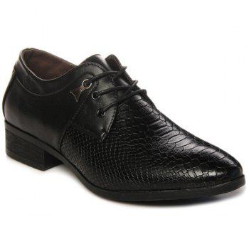 Metal Lace Up Embossing Formal Shoes