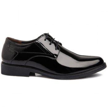 Lace Up Patent Leather Engraving Formal Shoes - 44 44