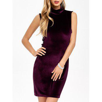 Velvet Criss Cross Zip Short Formal Dress