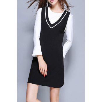 Mini Dress With Flare Sleeve T-Shirt