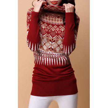 Turtleneck Christmas Long Sweater