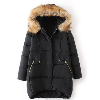 Plus Size High Low Parka Jacket