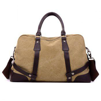 Zip Canvas Weekender Bag - KHAKI KHAKI