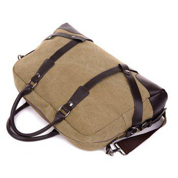 Zip Canvas Weekender Bag -  KHAKI