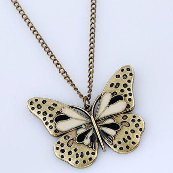 Butterfly Sweater Chain - BLACK