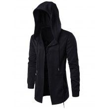 Open Front Cloak Hooded Full Sleeves Hoodie