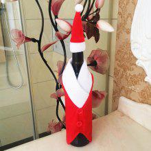 Christmas Table Decor Santa Clothes Wine Bottle Cover Bag