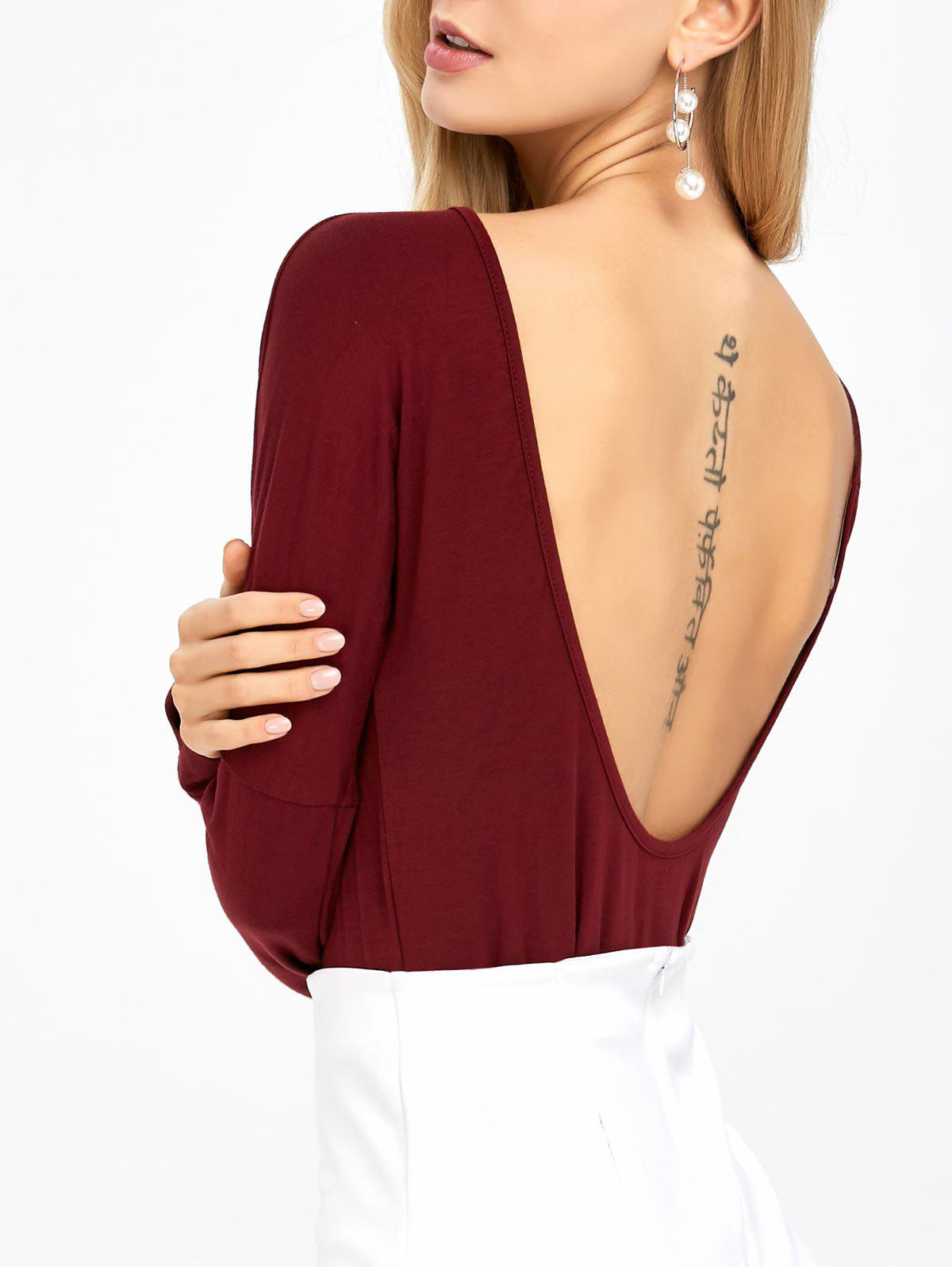 Open Back Drop Shoulder T-Shirt