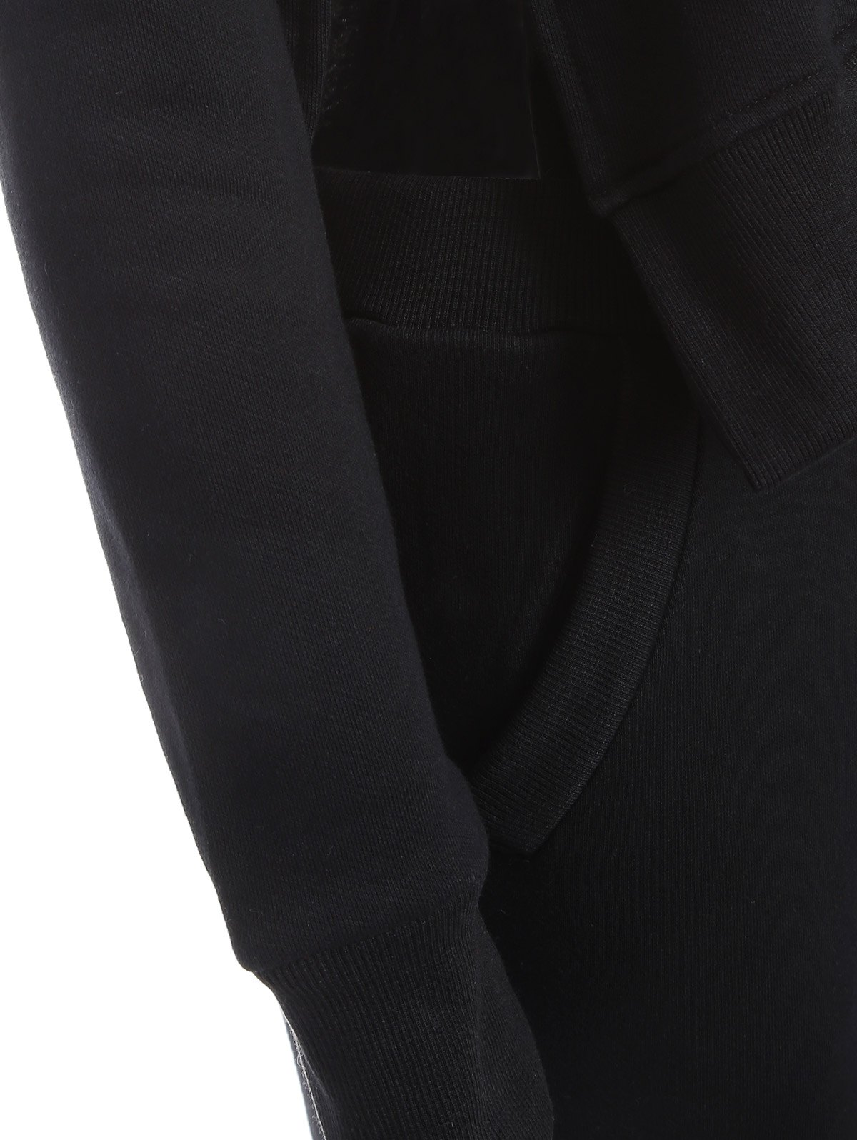 High Low Slit Top with Jogger Pants - BLACK M