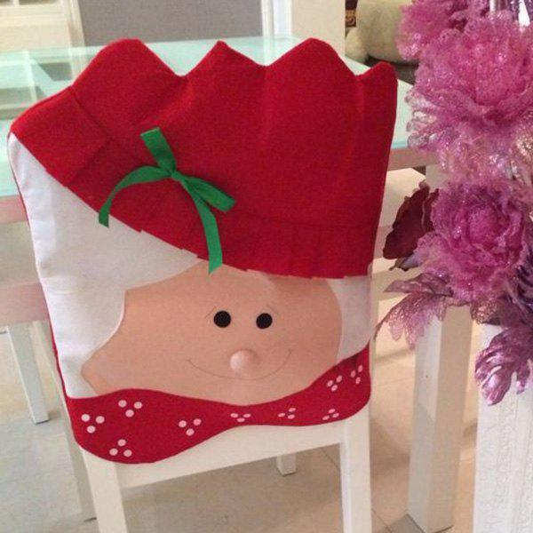 Dinner Table Decor Christmas Mrs Santa Chair Back Cover