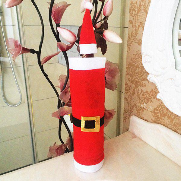 Little Black Lipstick Cheap Dollar Store Christmas Decor: Christmas Decor Santa Clothes Wine Bottle Cover Bag, RED