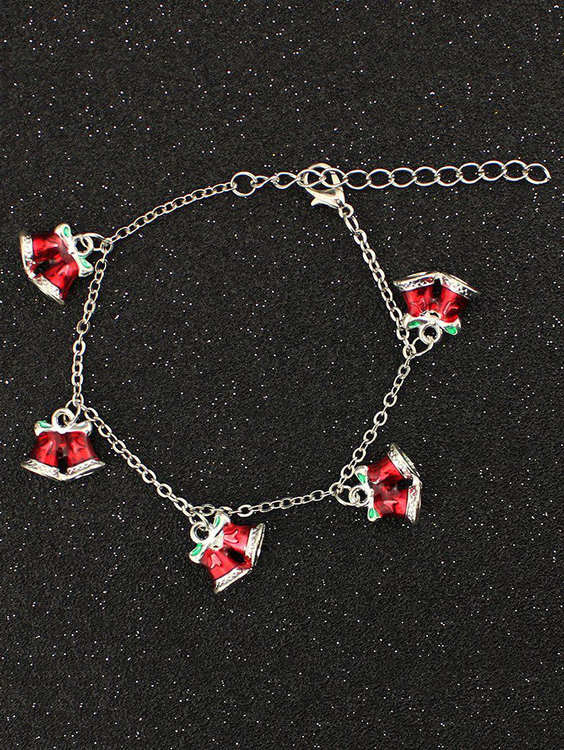 Bows Christmas Bells Charm Bracelet christmas bells candy cane charm beads bracelet