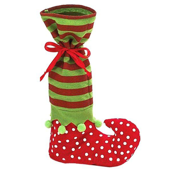 Christmas Santa Gift Stocking Candy BagHome<br><br><br>Color: RED AND GREEN