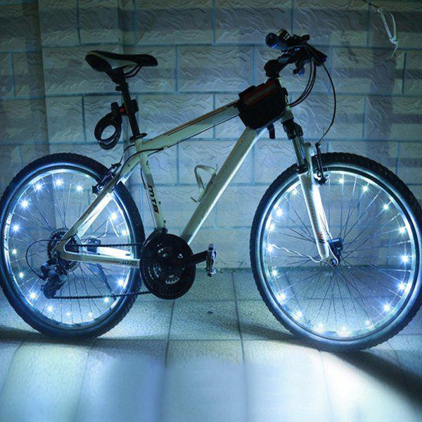 20 LED Flash Night Riding Bicycle Tyre Wheel LampHome<br><br><br>Color: WHITE