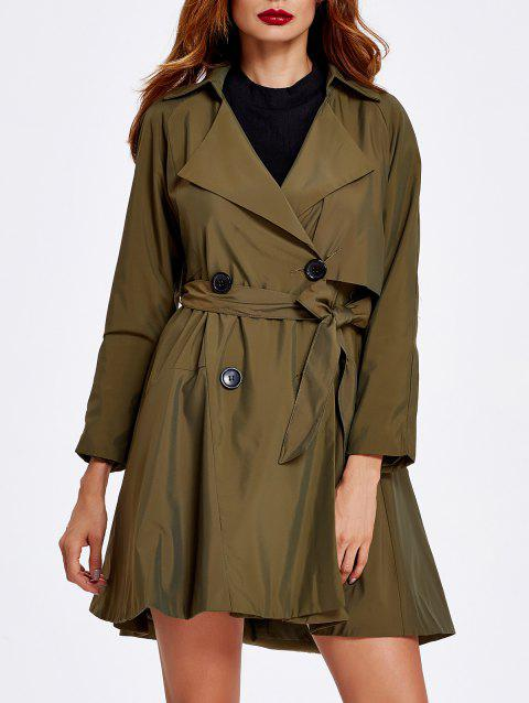 d4d6a6be1b5 LIMITED OFFER  2019 Double Breasted Tied Belt Trench Coat In ARMY ...