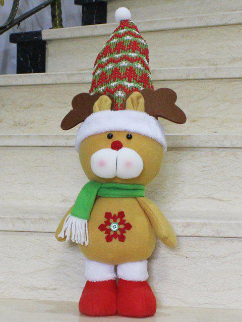 Christmas Gift Standing Elk Doll Xmas Decoration - YELLOW