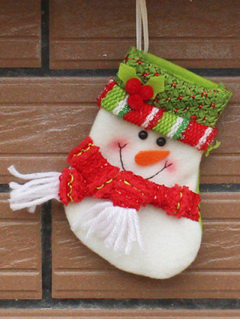 Christmas Snowman Hanging Gift Sock Xmas Tree Party Decor - RED/WHITE